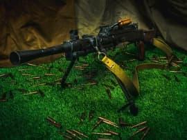 1601 Макет массогабаритный ручного пулемета РП-46