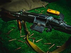 1606 Макет массогабаритный ручного пулемета РП-46