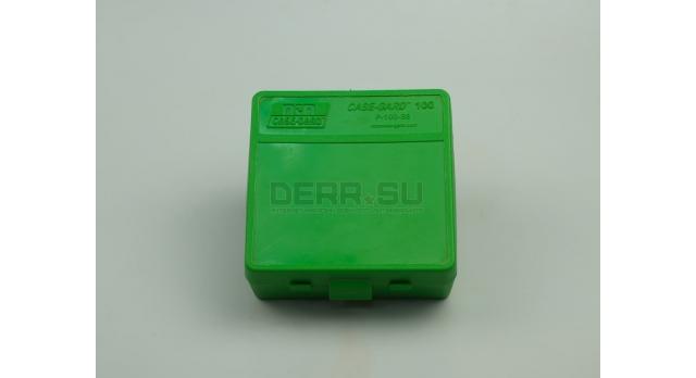Контейнер пластиковый для патронов MTM Case Gard 100 / Зеленый на 100 патронов .357 Mag, 7.62х25 новый [мт-322]