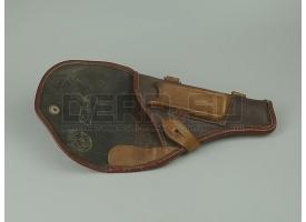Кобура для пистолета ТТ [сн-124] Поясная кожа, брезент