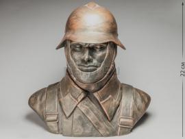 3289 Бюст «Советский солдат в мотоциклетном шлеме»