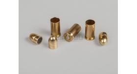 Комплект 7.65х17-мм (32 auto) пуля с капсюлированной гильзой / Новый оболоченная пуля с латунной гильзой [мт-471]