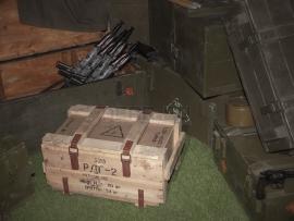 3829 Армейский укупорочный ящик для ручных дымовых гранат РДГ-2