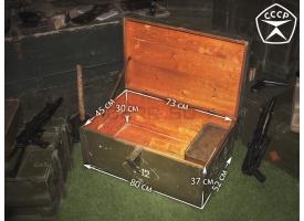 Армейский укупорочный ящик медицинского назначения / Деревянный под навесной замок (80х52х37) [ящ-2]