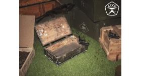 Армейский укупорочный ящик для учебных гранат РГД-5 и запалов УЗРГМ-2 / Деревянный без перегородок (51х30х18) [ящ-10]