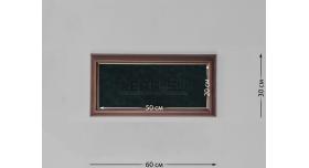 Настенные витрины для домашней коллекции / 60см х 30см зелёный фон [п-125]