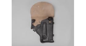 Кобура для пистолета бесшумного (ПБ) / Чёрная кожа новая [сн-87]