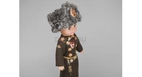 Сувенирная кукла «танковые войска» / Майор в папахе со значком «гвардия» [п-129]