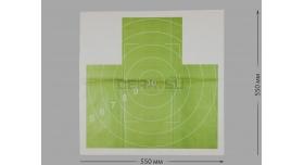 Мишени для стрельбы / Мишень №4с грудная с кругами зеленая (100 шт) [мт-499]