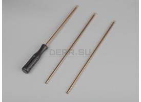 Шомпол для нарезного оружия / Разборный трёхколенный, латунный, диаметр: 6-мм; длина: 79 см [мт-494]