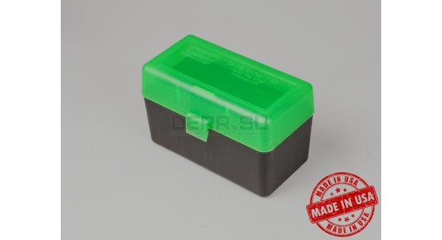 MTM Case Gart P50 /Чёрный с зелёной крышкой для патронов .270; 30-06; 6,5x55; 7,62x54; 9,3x62; 9,3х74; 410 [мт-644]