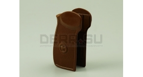 Рукоятка для пистолета ПМ / Коричневый пластик склад [пм-49]