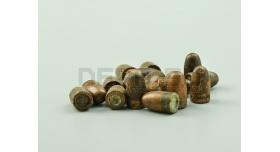 Пули 7.62х25-мм для ТТ, ППШ и ППС / Стрелянные омедненные оживальные [тт-12]